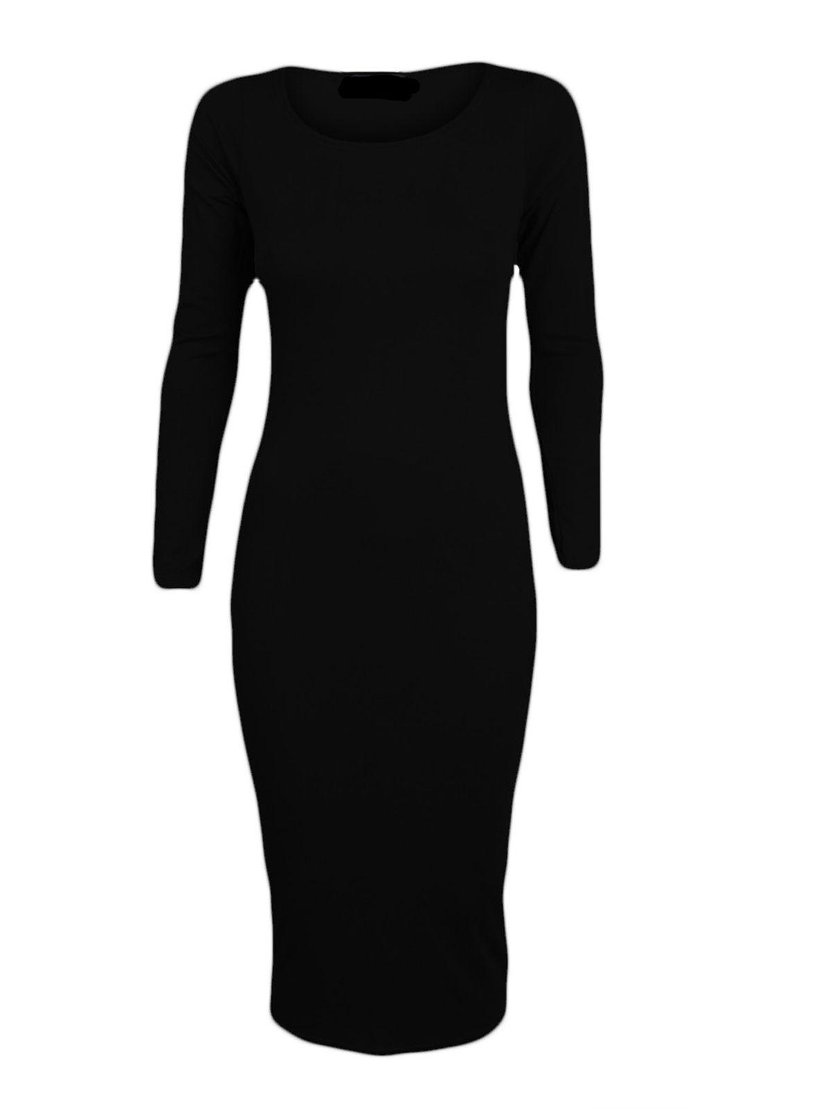 Long sleeved mid dress just £5 Black
