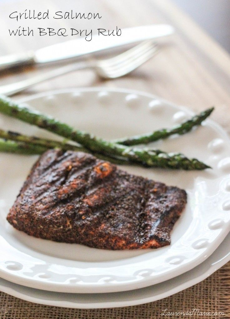 Grilled Salmon with BBQ Dry Rub