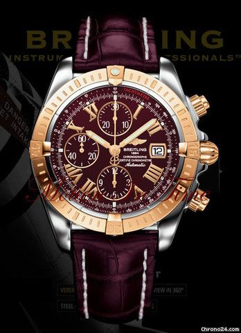Breitling Chronomat Evolution Rose Gold Stainless Steel Breitling Breitling Chronomat Watches For Men
