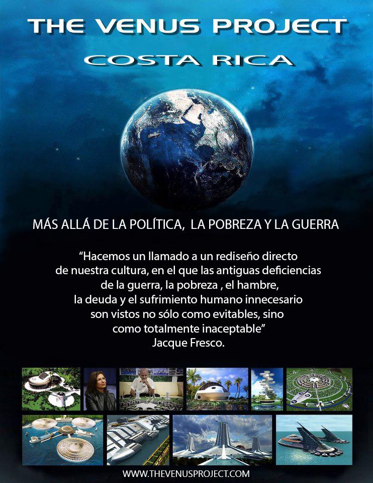 Poster activismo the venus project