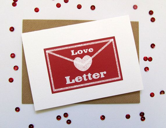 Valentines Day Card Love Letter Red Hearts Card ValentineS Day