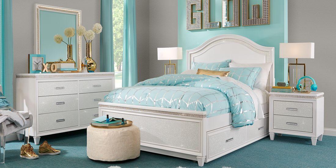 Angelique White 5 Pc Full Panel Bedroom Girls Bedroom Sets Full Size Bedroom Sets Upholstered Bedroom