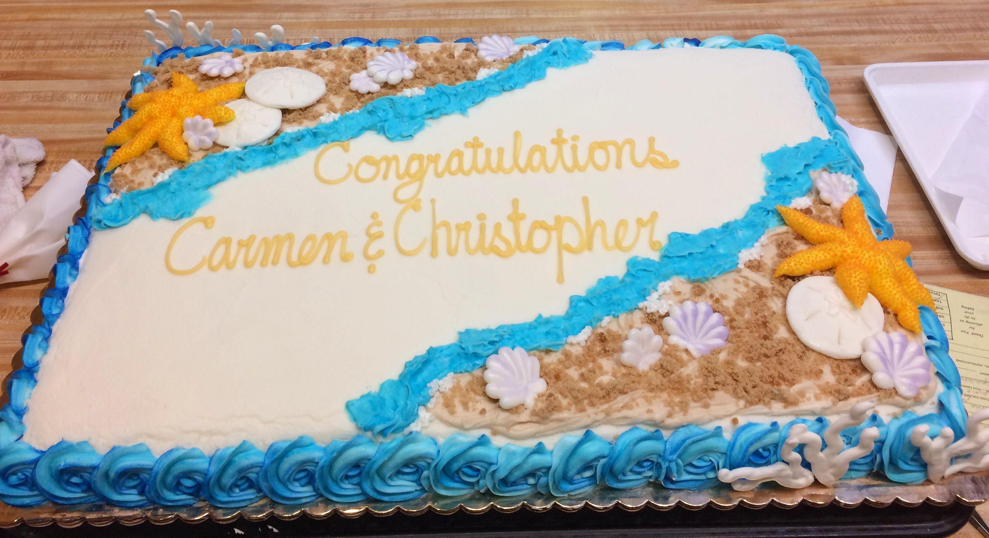 Beach Congratulations Cake Westhampton Pastry Shop Richmond VA