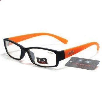 6a5e2ab0e105 Counterfeit Oakley Plain Glass Sunglasses matte black-orange frames clear  lens