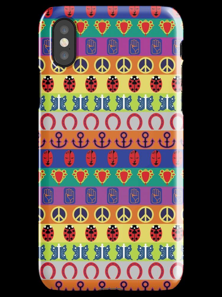 Jojo S Bizarre Adventure Part Symbols Colorful Pattern Iphone X Snap By Nintendino Iphone Case Covers Pattern Iphone Pattern Iphone Case
