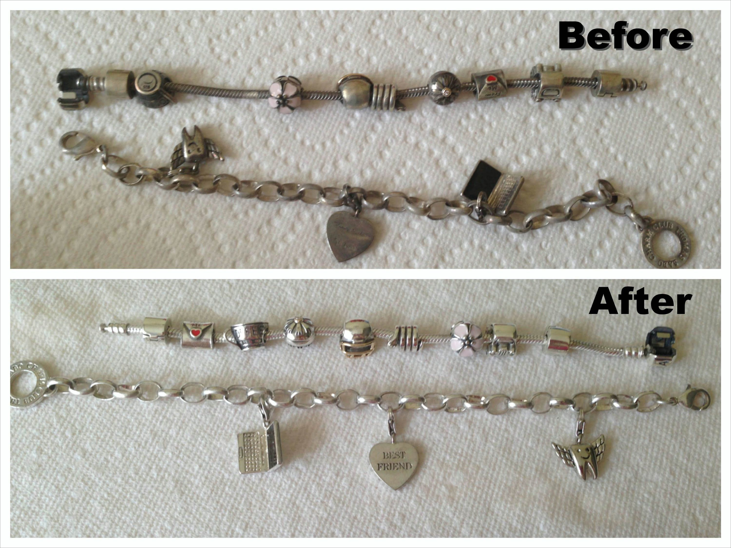 Tarnished Pandora Bracelet How To Clean Silver Jewelry