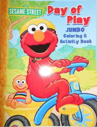 sesame street elmo jumbo coloring book day of play by bendon publishing 369