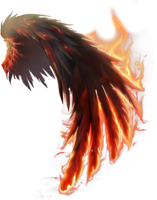 Fire Tips Wings Drawing Wings Png Angel Wings Art