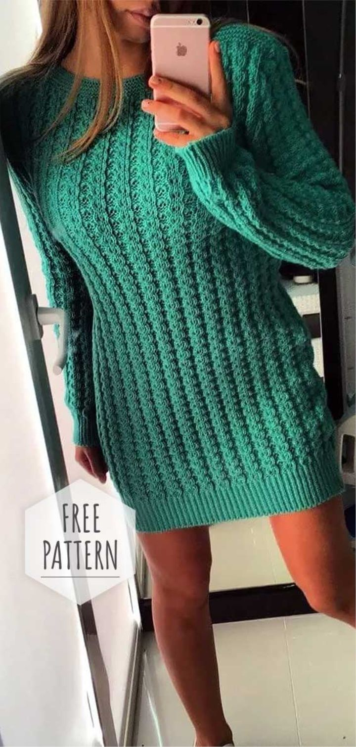 Knitted Tunic Free Pattern Tunic Knitting Patterns Knit Dress Pattern Knit Sweater Dress Pattern [ 1510 x 720 Pixel ]
