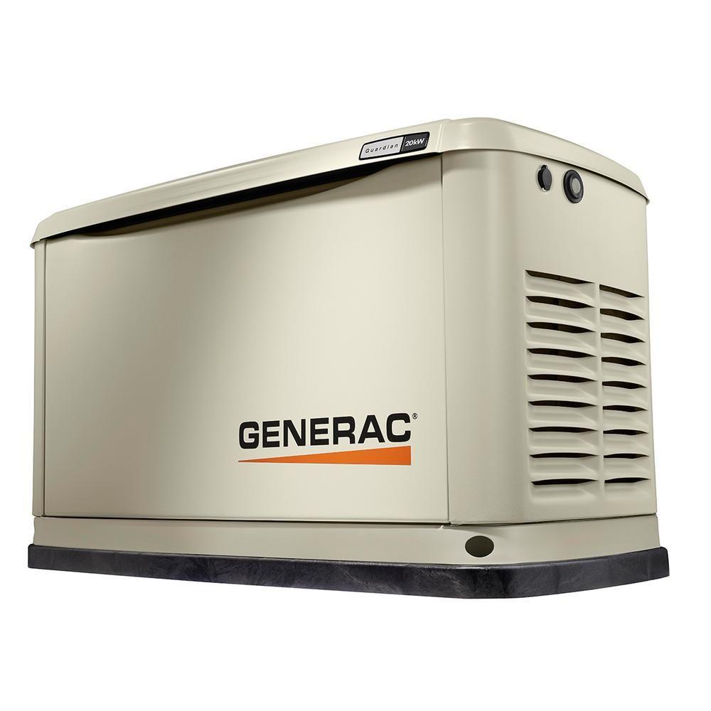 Generac 20 000 Watt Air Cooled Standby Generator 7038 The Home Depot Standby Generators Home Backup Generator Backup Generator