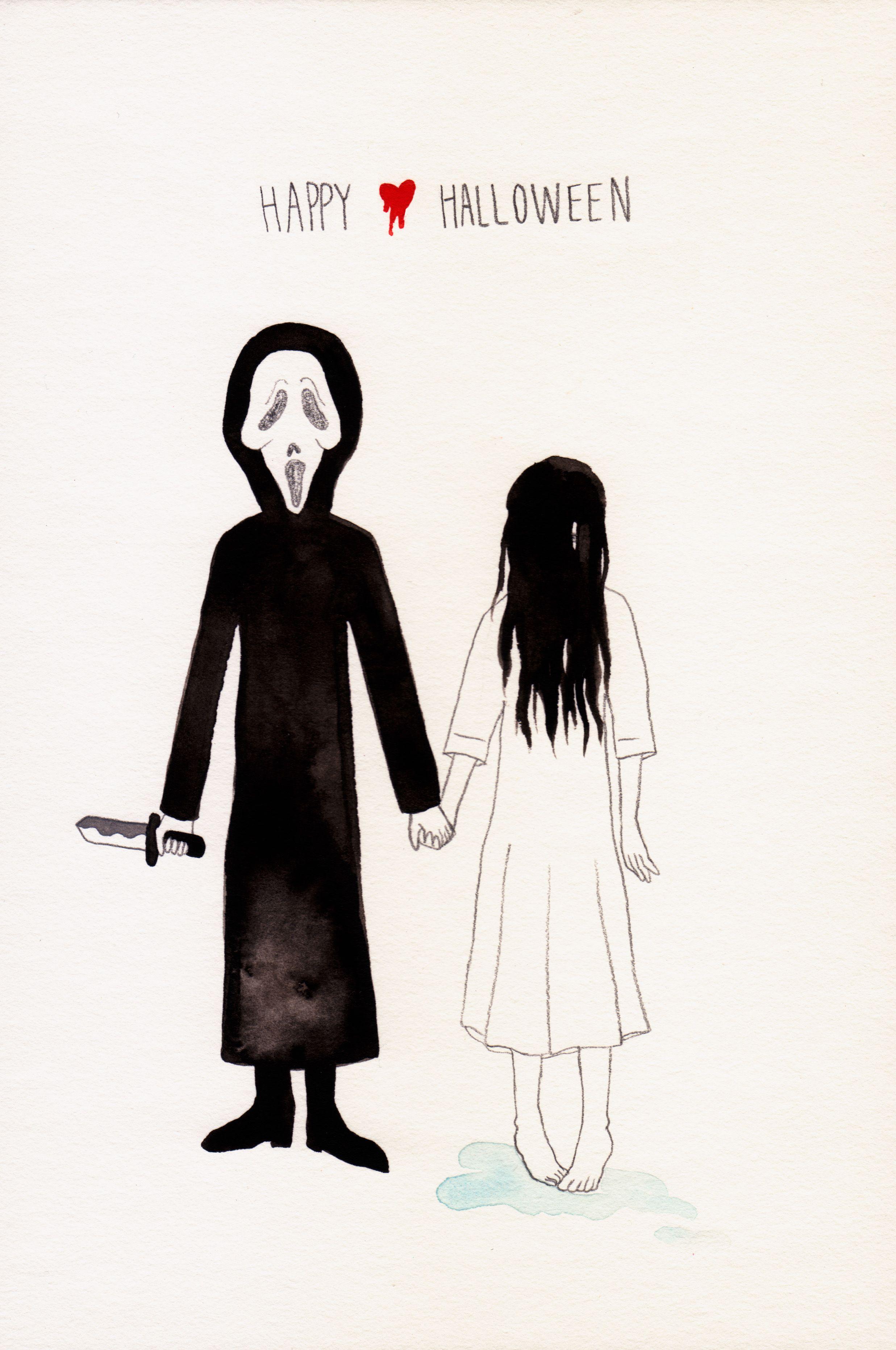 Happy Halloween! Ghostface ♥ Sadako. HorrorLove version
