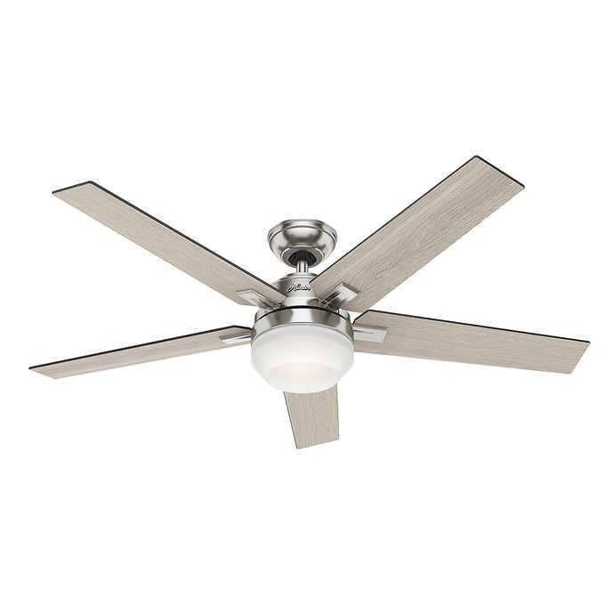 Hunter Apex 54 Quot Led Ceiling Fan From Costco Silver Ceiling