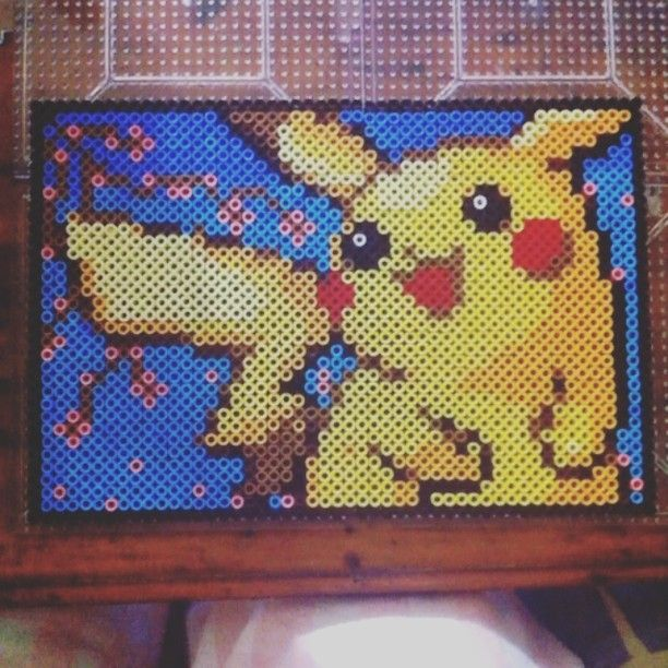 pokemon pikachu perler beads by nochansey hama perlen pinterest b gelperlen b gelperlen. Black Bedroom Furniture Sets. Home Design Ideas