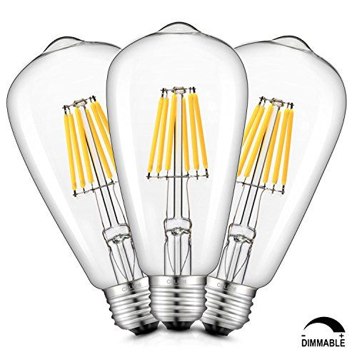 Crlight Led Edison Bulb 6w Dimmable 3200k Soft White 700lm 70w