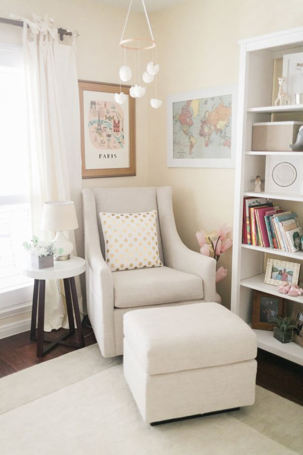 Don T Need A Nursery But I Like This Sitting Area For Family Room Perfect Reading Nook And Bookcase All The Kids Books