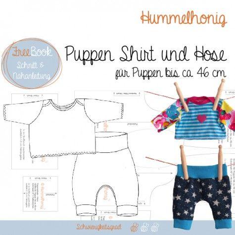 Für Puppen: Shirt und Hose, Windel und Badetuch, Kleid, Beanie und ...
