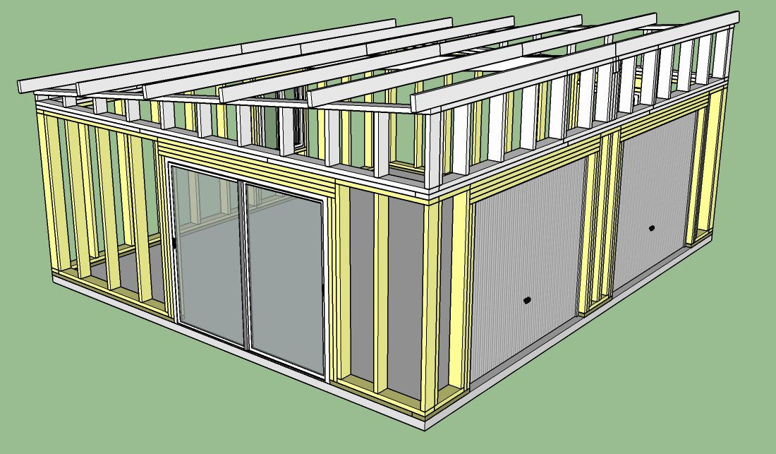 Fabrication D Un Double Garage Ossature Bois Copain Des Copeaux En 2020 Ossature Bois Garage Double Garage Bois