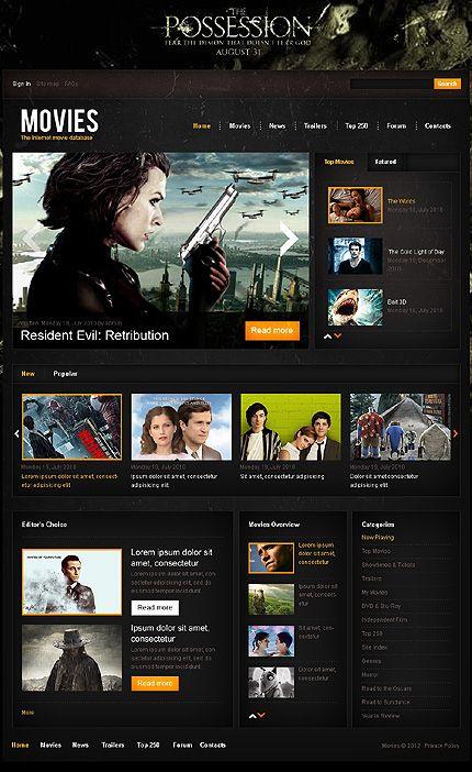 Internet Movie Database Drupal Template #portal #website http ...