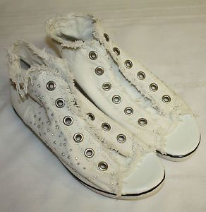 open toe canvas sneakers