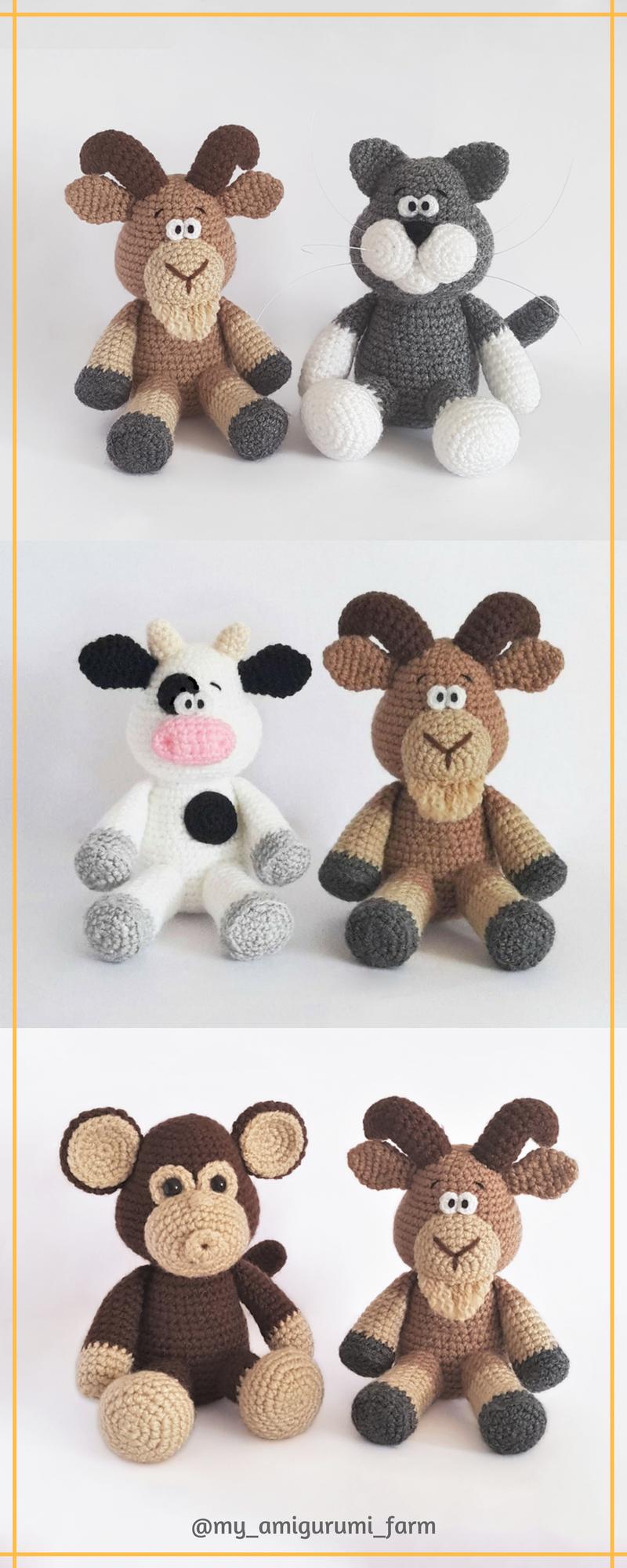 Cute crochet animals, amigurumi patterns   2018   Pinterest