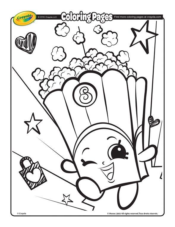Shopkins Poppy Corn Coloring Page Crayola Com Shopkins