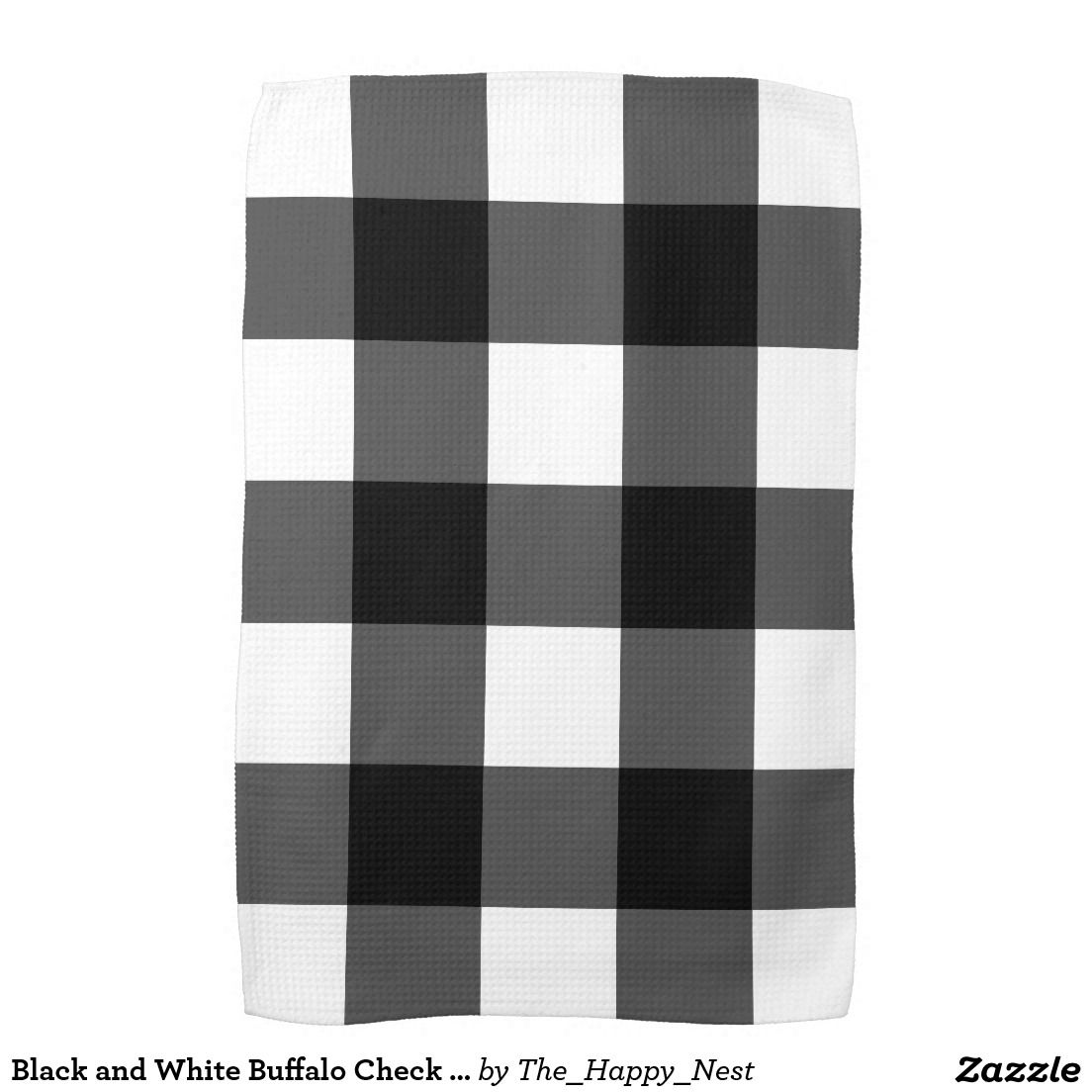 Black And White Buffalo Check Kitchen Towel Zazzle Com White Buffalo Kitchen Towels Black And White