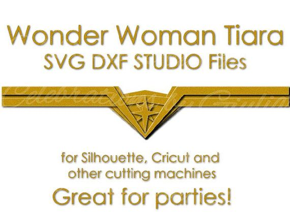 Svg Dxf Studio datoteke za Diy Wonder Woman Tiara Crown-5082