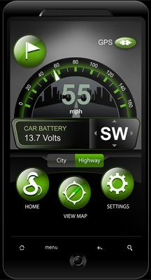 Cobra iRadar system & App for iPhone. This is a normal