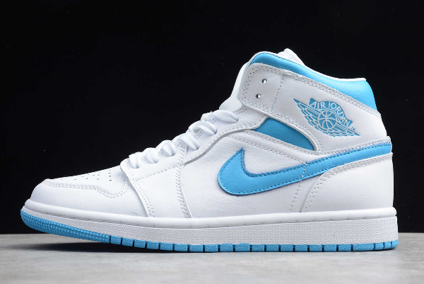 2020 Air Jordan 1 Mid Unc White Light Blue Bq6472 114 New Release Air Jordans Nike Shoes Women Jordan 1 Mid