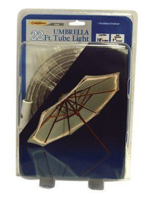 Celebrations Clear Umbrella Rope Light [Misc.] by Celebrations. $18.99. Celebrations Clear Umbrella Rope Light 22 13mm Clear Rope 18 Lead Wire Comes With Zip Ties To Fasten The Light To The Umbrella Displays Along The Outer Rim Of 9 Umbrella Boxed All items sold new in original packaging #clearumbrella Celebrations Clear Umbrella Rope Light [Misc.] by Celebrations. $18.99. Celebrations Clear Umbrella Rope Light 22 13mm Clear Rope 18 Lead Wire Comes With Zip Ties To Fasten The Light To The Umbrel #clearumbrella