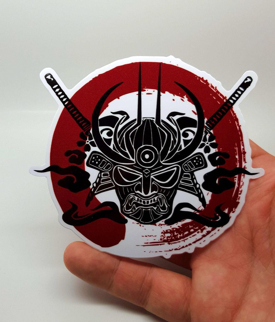 Samurai enso blood circle sticker sticker a vol doiseau a vol doiseau