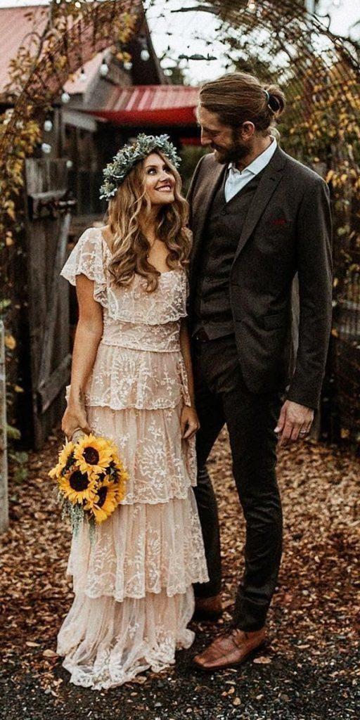 21 Amazing Boho Wedding Dresses With Sleeves | Wedding Dresses Guide 6
