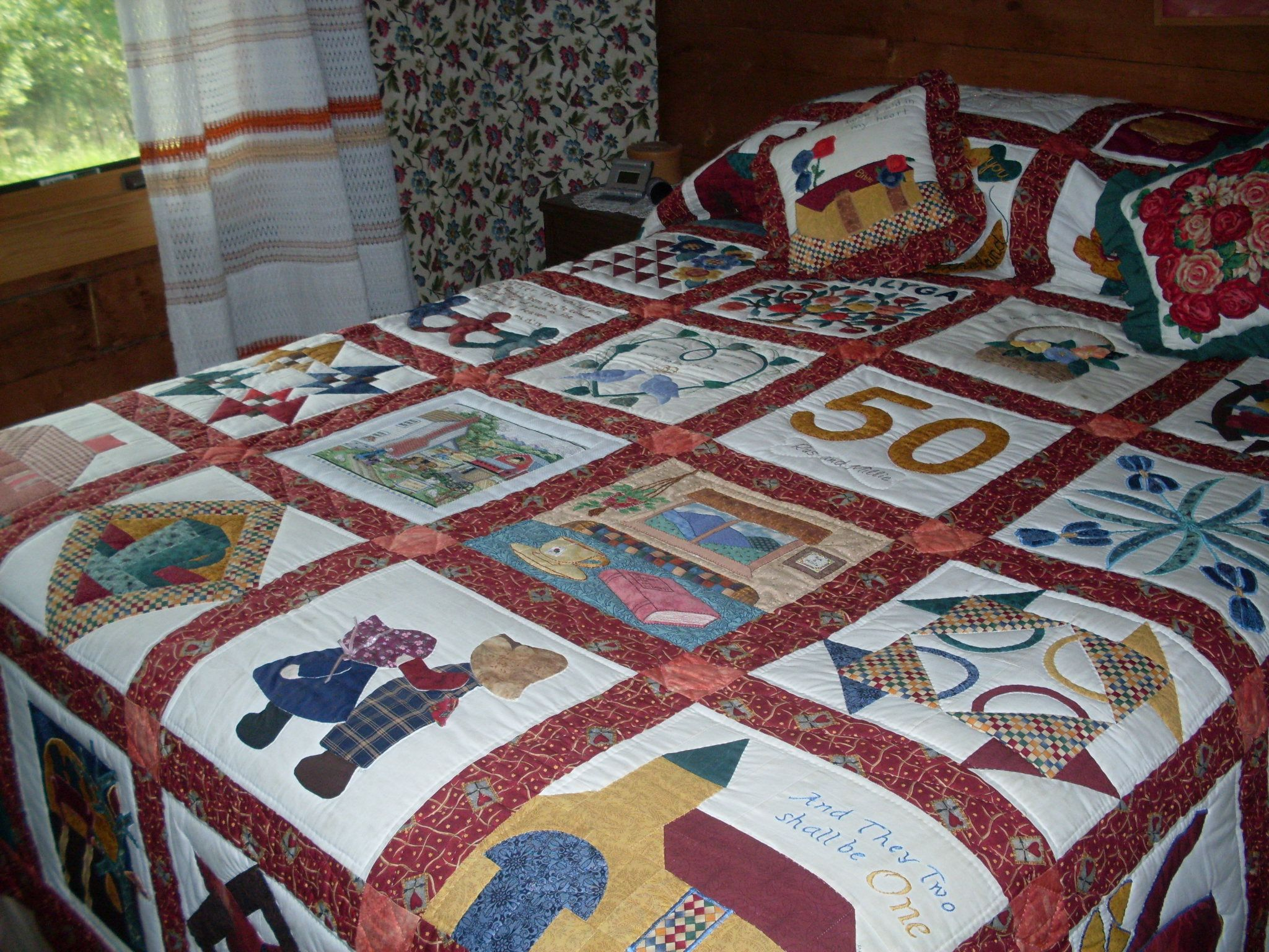 50th Anniversary Quilt | colchas | Pinterest | Edredones y Colchas