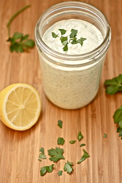 home made ranch dressing so much better than bottled!