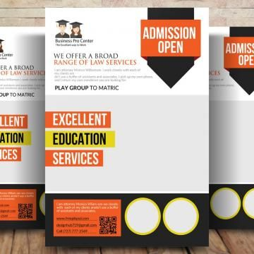 advertising back to school bundle business flyer business services business template