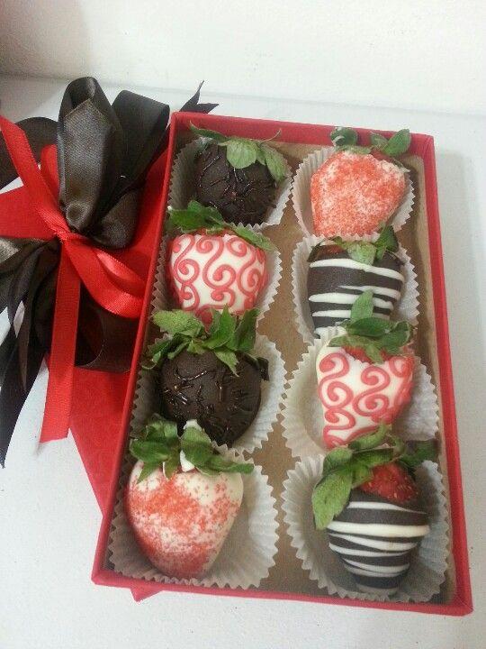 7 Ideas De Cajas Fresas Con Chocolate Fresas Con Chocolate Fresas Chocolate