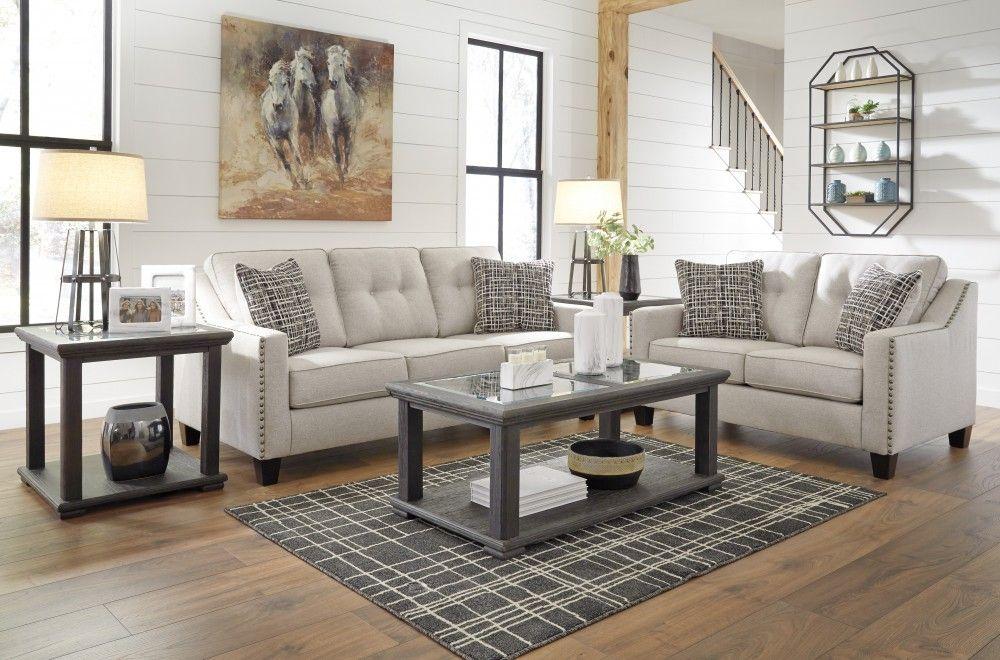 Marrero Fog Sofa Loveseat Living Room Sets Ashley