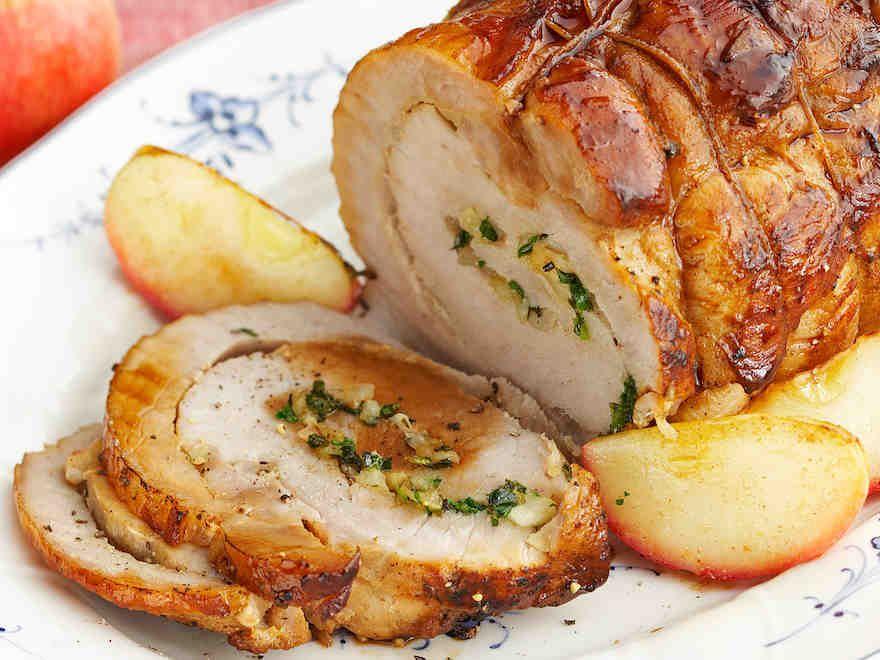 Omenoilla täytetty porsaanfilee 1 - Reseptit