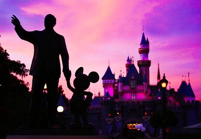 Walt Disney and Mickey statue