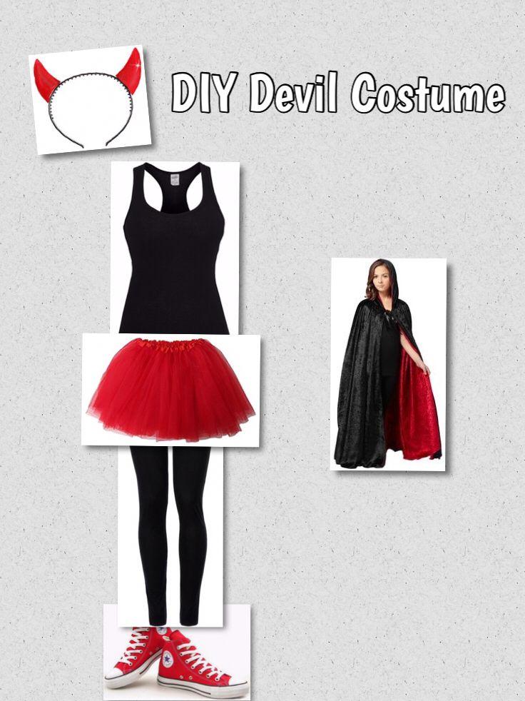 8814f9795e2d DIY Devil Costume Devil Costume, Halloween Hair, Last Minute Halloween  Costumes, Halloween Party