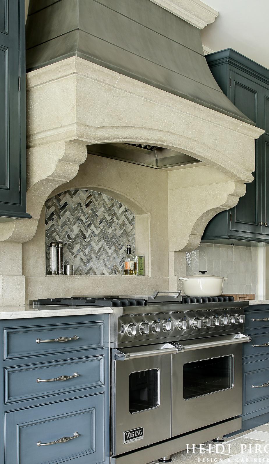 Kitchen Cabinetry Tile Backsplash Range Hood Kitchen