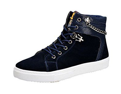 king ma mens fashionable casual high top canvas shoes