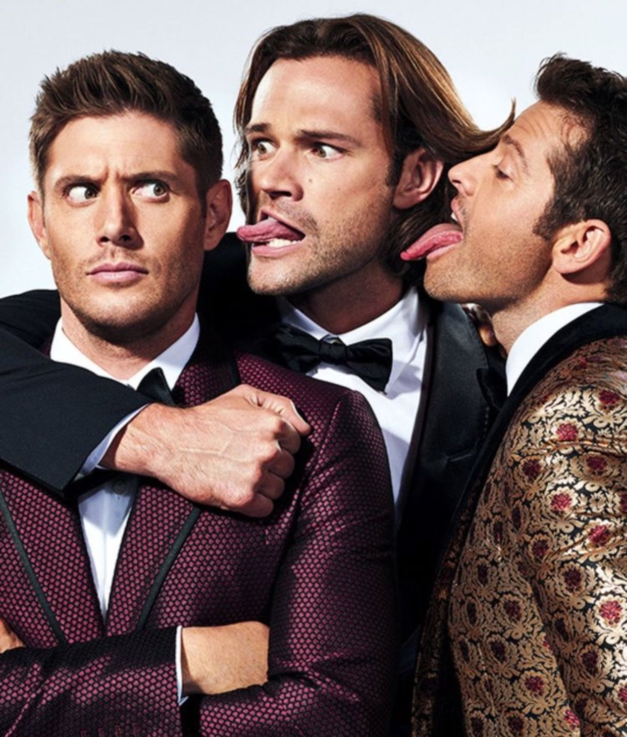 Jensen Jared And Misha Ew Photo Shoot Halloween Edition October