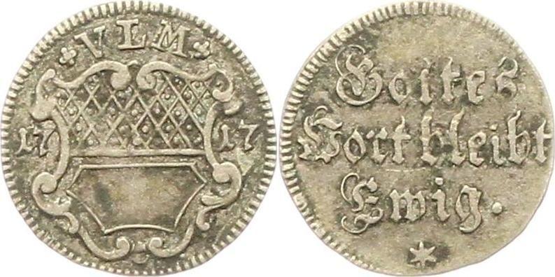 Silberabschlag von den Stempeln des 1/2 Dukaten 1717 Ulm
