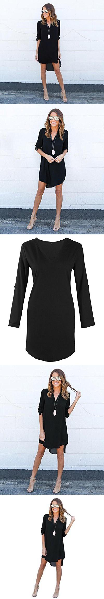 CreazyÃuawomen blouse chiffon long sleeve t shirt casual dress