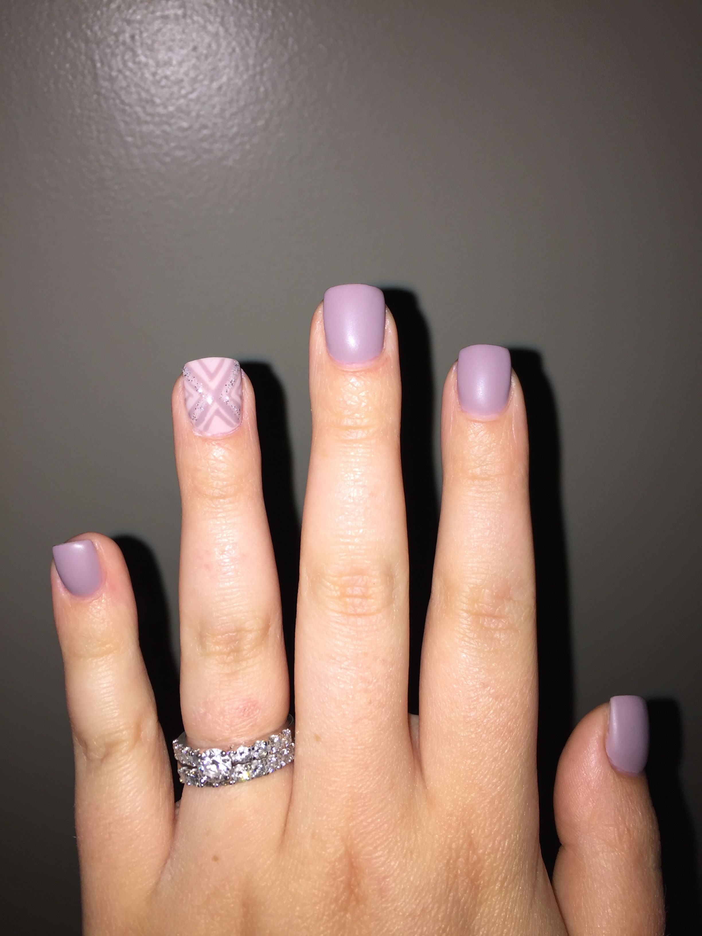 Accent Nail Lilac Nails Purple Matte Acrylic Overlay