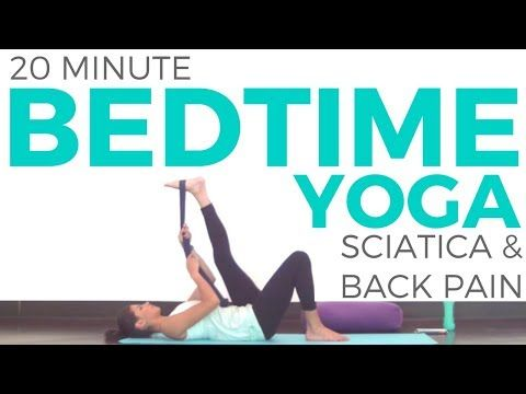 20 minute Bedtime Yoga for SCIATICA and LOW BACK PAIN | Sarah Beth Yoga