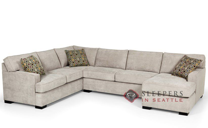 the 146 ushape true sectional queen sleeper sofa by stanton at savvy home apt pinterest sleeper sofas sectional sofa and fabrics