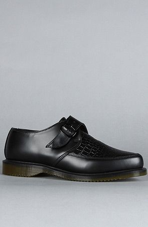 98f11b12ee06 The Ashland Monk Creeper in Black Croc by Dr. Martens | Mine | Dress ...