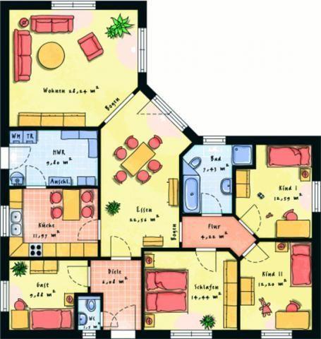 grundriss eg jpg 455 480 grundrisse bungalow grundrisse haus ideen ...